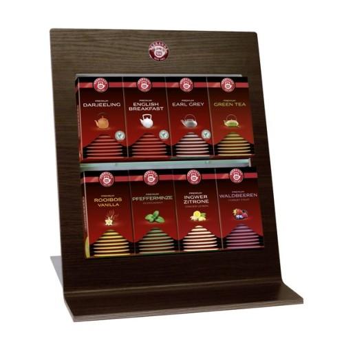 """Teekanne Premium Tee-Präsenter LOU, mit 8 Fächern, optimal für die """"PREMIUM-Teesorten"""" von Teekanne, Holzoptik, Maße 40 x 34 x 21 cm."""