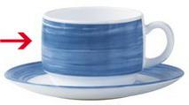 Kaffeeobertasse 0,19 L Form Brush - dunkelblau Arcoroc
