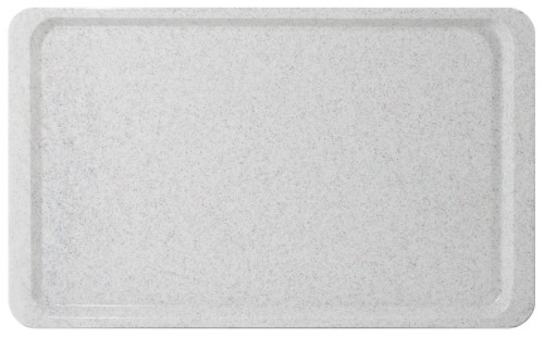 Tablett EASY Euronorm EN 1/1, Farbe: granit, aus glasfaserverstärktem Polyesterharz, Länge: 53 cm, Breite: 37 cm, Höhe: 1,6 cm