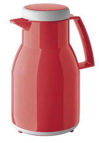 Helios Isolierkanne WASH, Inhalt: 1,0 Liter, Farbe: rot, spülmaschinengeeignet, Kunstoff, Qualitätsglas-Einsatz, Drehverschluß,