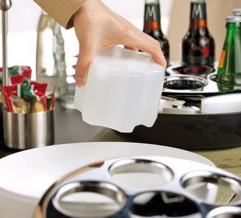 Ersatzkühlakku PURE, Farbe: weiß/transparent, von Helios