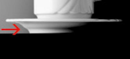 Kaffee-/Henkelbecheruntertasse AMBIENTE,  Durchmesser: 14,5 cm, uni weiss, Eschenbach