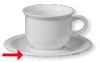 Kaffeeuntertasse TODAY, Durchmesser: 14,5 cm, uni weiß, Eschenbach