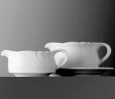 Sauciere-Oberteil - Inhalt 0,30 ltr - Form AMBIENTE - uni weiß - ohne Unterteil