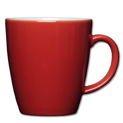 Henkelbecher Inhalt: 0,35 ltr., Höhe: 9,6 cm, COFFEE SHOP, CLASSIC COLOUR,  rot, Eschenbach