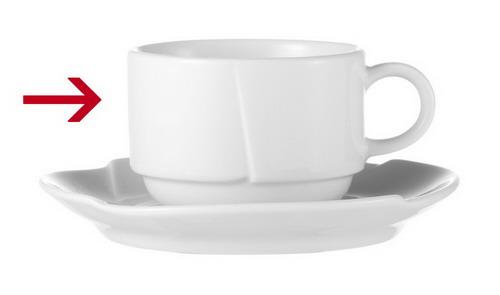 Kaffeeobertasse Inhalt: 0,18 ltr., Form DANIELA, Porzellan, uni weiss, Durchmesser: 80 mm, Höhe: 57 mm