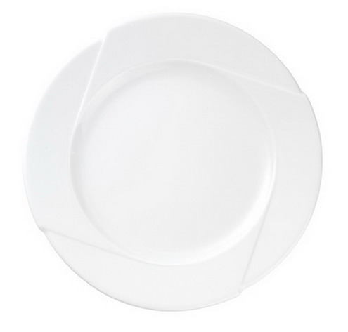 Dessertteller, Durchmesser: 210 mm, Form DANIELA, Porzellan, uni weiss