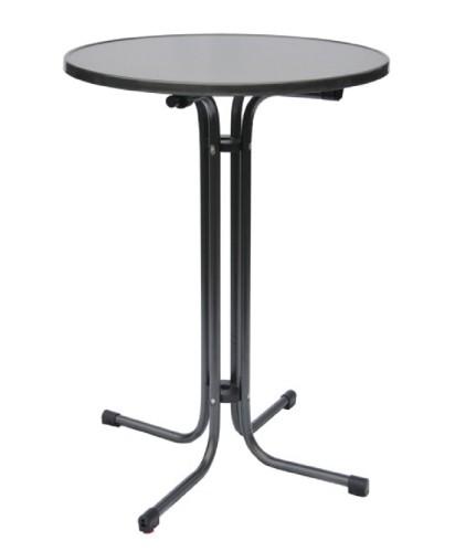 Stehtisch MARS, Tischhöhe: 1,09 m,  Durchmesser Tischplatte: 70 cm, Farbe: anthrazit / schwarz
