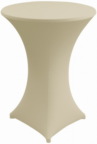Stretch-Stehtischhusse MARS, Farbe: creme, Durchmesser: 70-75 cm, incl. Topcover, 210 g/qm, Material: 10% Elastan, 90% Polyester