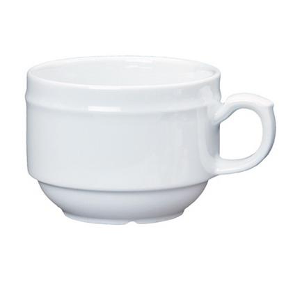 Kaffeeobertasse ALICE, Inhalt: 0,18 ltr.,  uni weiß, Henneberg Porzellan