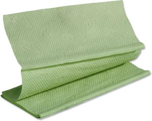 Tork Advanced Handtuchpapier grün, 2-lagig Tissuequalität, 25 x 23 cm, ZZ-Falz Paket à 15 x 250 Tücher = 3.750 Blatt
