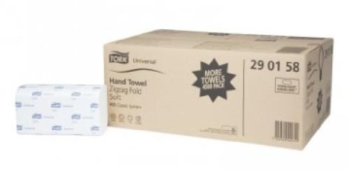 Tork TAD Handtuchpapier H3 1-lagig, 23x23 cm, hochweiß Zickzack-Falz, Inhalt: 4500 Tücher