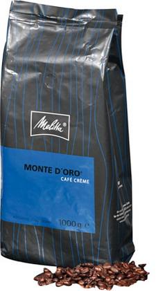 Melitta Kaffeebohnen MONTE D`ORO, Inhalt: 1 kg ganze Bohnen.