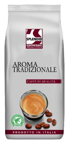 Jacobs Splendid Espressobohnen AromaTradizionale, Inhalt: 1 kg ganze Bohnen.