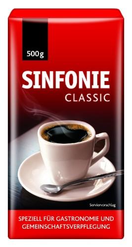 Jacobs Sinfonie Classic, Inhalt: 500 g fein gemahlener Kaffee.