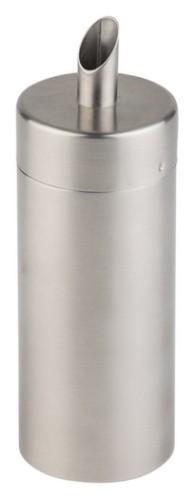 Zuckerstreuer CLASSIC II, Inhalt: 0,17 Liter, Material: Edelstahl, matt, Höhe: 150 mm, Durchmesser: 50 mm, spülmaschinengeeignet.