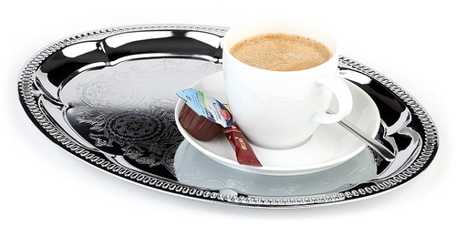 esmeyer ihr ausstatter f r betrieb und einrichtungen serviertablett kaffeehaus oval metall. Black Bedroom Furniture Sets. Home Design Ideas