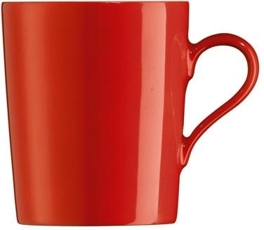 Kaffeebecher mit Henkel, 0,31 l Form Tric - hot (rot) Höhe: 9,5 cm