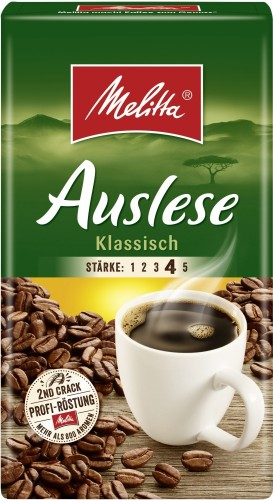 Melitta CAFE AUSLESE, Inhalt: 500 g gemahlener Kaffee.