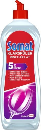 SOMAT Klarspüler 3 x GlanzAktiv, Inhalt: 750 ml, für die Spülmaschinen.