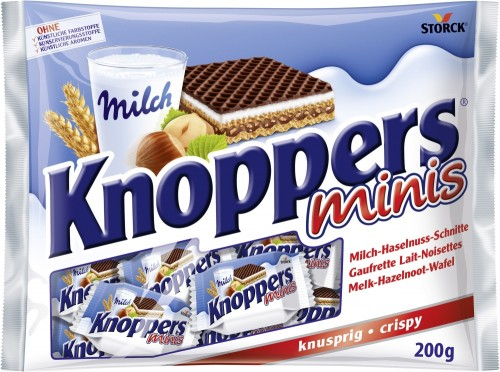 Storck Knoppers Minis, Inhalt: 20 Stück je Beutel.
