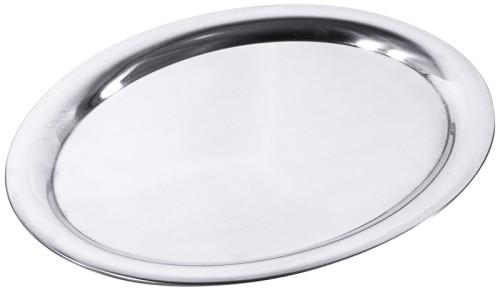 Ovales Serviertablett DAILY aus Edelstahl 18/10, Länge: 29 cm, Breite: 22 cm, Höhe: 1,4 cm, hochglänzend, mit gebördeltem Rand