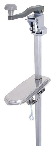 Dosenöffner mit Tischauflage 25 x 10 x 1,5 cm Standardmodell, aus Edelstahl 18/0,  variabel für Dosen bis maximal 56 cm Höhe, für