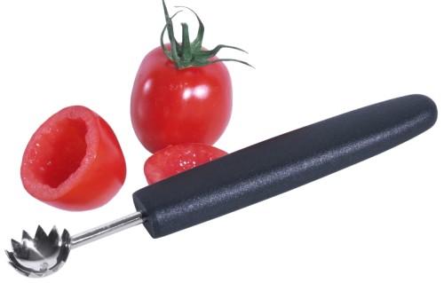 Tomatenentstieler mit schwarzem, glasfaserverstärktem Polyamid-Griff, aus extra  geschärftem, gehärtetem Edelstahl 18/0 zum