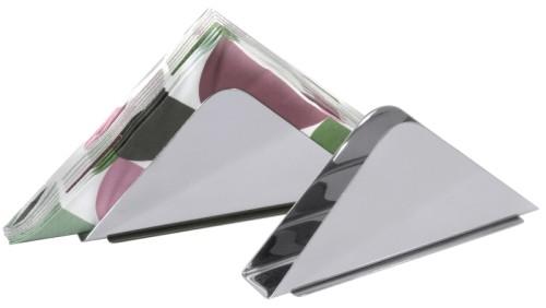 Serviettenhalter aus Edelstahl, hochglänzend poliert Länge: 14 cm, Breite: 3 cm,  Höhe: 6,5 cm