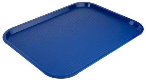 Tablett MODERN 45 x 35 cm, Farbe blau, Stapelnocken, bedingt rutschfest