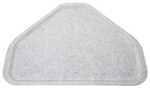 Tablett EASY Trapezform, Farbe: granitgrau, aus glasfaserverstärktem Polyesterharz, spülmaschinenfest