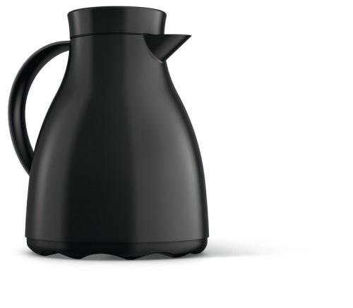 Isolierkanne EASY CLEAN, Inhalt: 1 Liter, von Emsa, Farbe: schwarz, spülmaschinenfest, Höhe: 220 mm