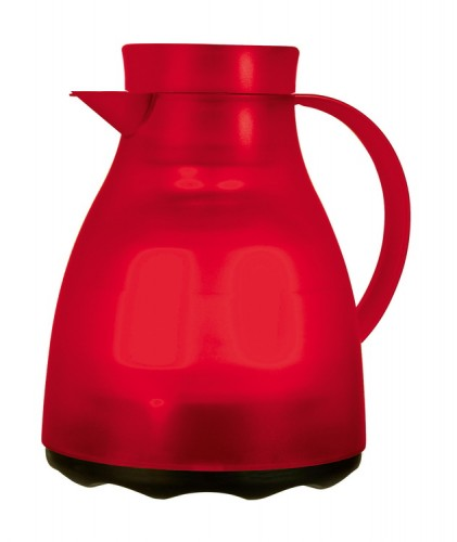 Isolierkanne EASY CLEAN, Inhalt: 1 Liter, von Emsa, Farbe: rot transluzent, spülmaschinenfest, Höhe: 220 mm