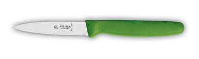 Giesser Gemüsemesser, EXPERT mittelspitz, 8cm Klingenlänge, grüner Griff