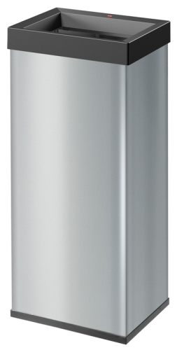 Hailo Großraum-Abfallsammler, Big-Box Quick  60,silber, 60l