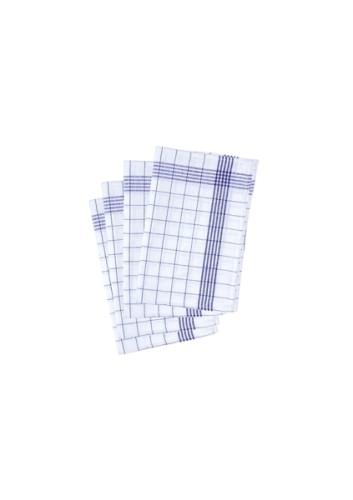 10 Stück Geschirrtuch blau - 50 x 70 cm
