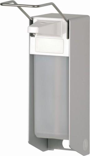 EURO Spender Alu 1000 ml Langer Arm f. Seife +  Desinf. TLS 26A25 mit Edelstahlpumpe