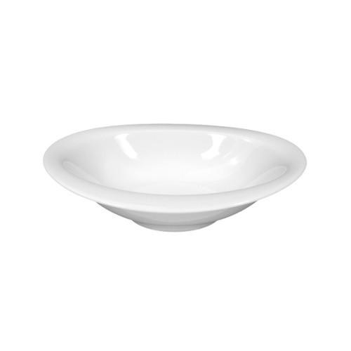 Schüssel TOP LIFE, oval, Durchmesser: 17 cm,  Höhe: 3,8 cm, uni weiss, Seltmann Porzellan