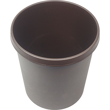 helit Papierkorb rund 29,3 x 33,5 cm (ø x H) 18l  mit Griffrand Polypropylen braun 1 Sortierfach