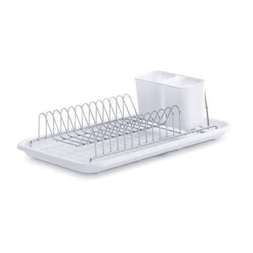 Geschirrabtropfständer CHILL, weiß Maße: 44x24x13cm, Kunststoff/Chrom