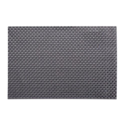 Platzset NATHALIE, Struktur grau,  Material: PVC Maß: 45 x 30 cm